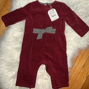 Baby Girls Zara Red Romper / Jumpsuit 6/9 months